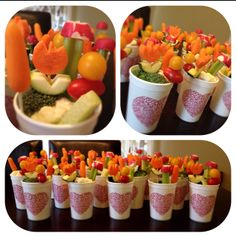 Instead of candy, fill Valentine's Day cups with fresh veggies!