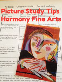 Picture Study Tips from Harmony Fine Arts.