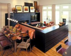 Custom Built In Sectional Design, Pictures, Remodel, Decor and Ideas