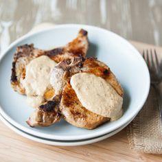Pork Chops with Parmesan Sage Sauce