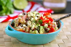 If you only have one salad this summer, this is it. Avocados, black beans, red onion, corn and lime! So Easy, So Yummy!! Try It!!