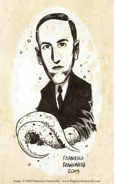 H.P. Lovecraft portrait