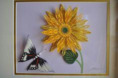 Quill Art Sunflower