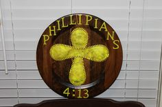 "My niece wanted a ""softball cross"" - she LOVED it"