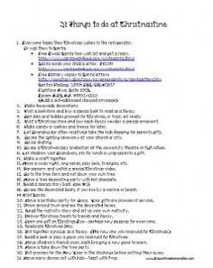 31 Things to do at Christmas Time