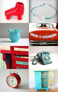 Vintage Red n Blue by Marianne Evenhuis on Etsy