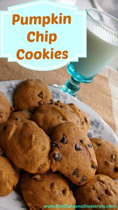 This is the recipe that everyone asks me for! This Pumpkin Chocolate Chip Cookies Recipe is my family's all-time favorite and everyone who tries them LOVES them. I make them every year on the first day of school.
