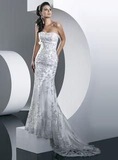 Generous Simple Unusual Sheath Strapless One-piece wedding dress