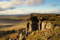 Stanage Edge, The Peak District, UK  One day, I will go here (in a Regency era dress) and look o'er the landscape wistfully... And have my picture taken.