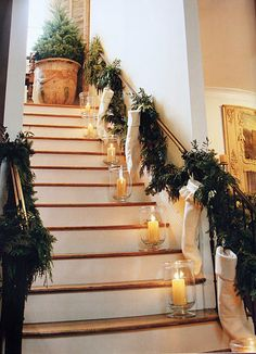 candles down the stairwell