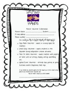 classroom, idea, school, word famili, parent volunteers, parent involv, parent volunteer form, kindergarten, teacher