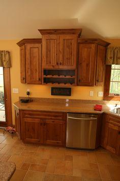wine racks, alder cabinet, kitchen ideas