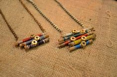 DIY stick necklace