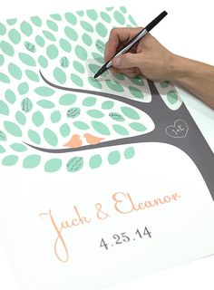 Wedding Tree Guest Book / Personalized Signature by jennasuedesign, $42.00