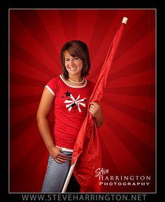 color guard senior photos