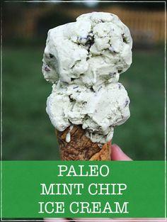 Paleo Mint Chip Ice Cream - Rubies & Radishes
