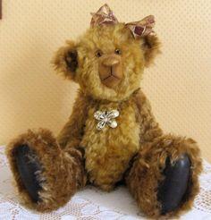 """Cosima 14"""" Jointed Mohair Artist Bear - UK Seller on Etsy, $254.92"""