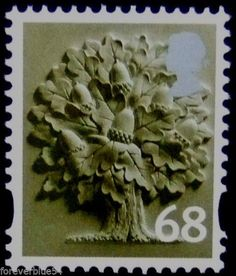 GB England 68p regional definitive MNH - Acorn, Oak Tree - combined postage