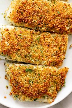 Garlic Parmesan Crumbed Fish - Cafe Delites