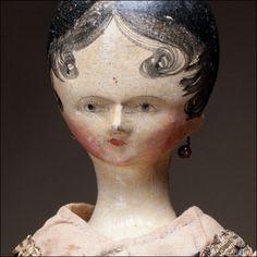 Rare Wooden Doll c.1820