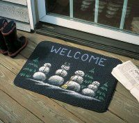 Here is an example of a finished Warm and Wonderful Welcome Mat.