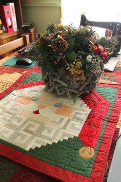 Santa table runner]