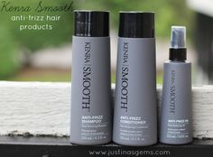 Great review of our Kenra Smooth Anti-Frizz Products via Justina's Gems.