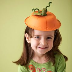 pumpkin paper bowl hat