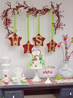 dessert tables, christmas desserts, christmas parties, wall decorations, christmas decorations, star, christmas party decorations, christma parti, holiday desserts