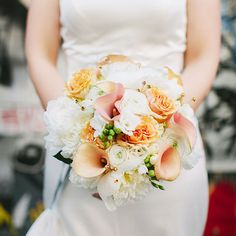 calla lily and rose wedding bouquet
