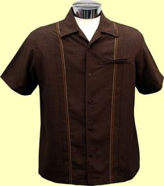 Brown retro stitching
