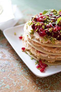 Breakfast Crepe Cake | Gluten Free Recipe on FamilyFreshCooking.com