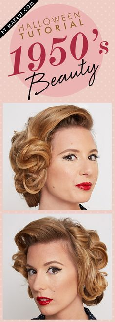 how to: 1950's hair and makeup tutorial // #halloween