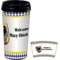 #Oktoberfest Seal Personalized Travel Mugs