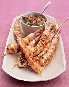 Ginger Shrimp with Charred Tomato Relish - Whole Living Eat Well