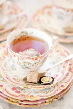 Keeping your cups and saucer on display in stands and hangers ensures that you'll use them more!