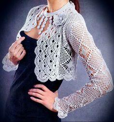 Crochet Sweater: Bolero Jacket - Gorgeous Crochet Bolero