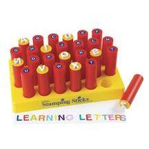 Uppercase Alphabet Stamping Sticks - 26 Pieces