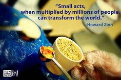 small acts. feed my starving children.