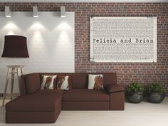 Large Custom Artwork using YOUR words ... on Canvas by Geezees
