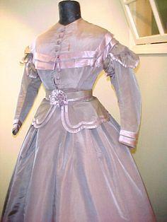 Civil War era changeable silk gown