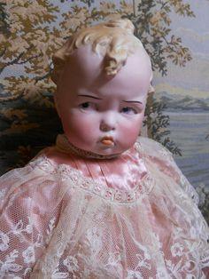 Stunning, Rare Gebruder Heubach Grumpy Baby