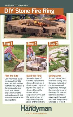 DIY Tutorial: How to Build a Stone Fire Ring. Host a few fall campfires right in your own backyard! #firering
