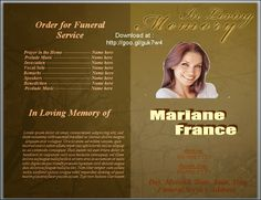 plain funeral program template .
