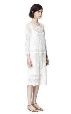 LONG LACE DRESS - Dresses - Woman - ZARA United States