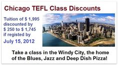 chicago tefl, ita offer, tefl class