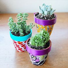 Fabric Covered Flower Pots    http://craftinomicon.blogspot.com.es/2012/05/fabric-covered-flower-pots.html