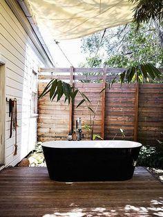 outdoor bathing Outdoor bathing inspirations in travel garden art  with shower outdoor bath