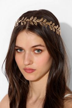 16 gold leaf hair accessories for fall