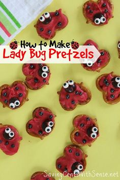 How to Make Lady Bug Pretzels - Saving Cents With Sense